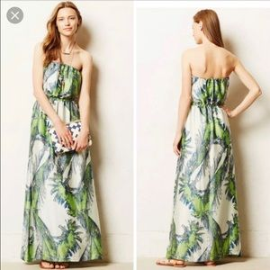 Maeve -Sabal Strapless Maxi Dress